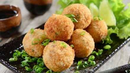 Салатные шарики А-ля мимоза
