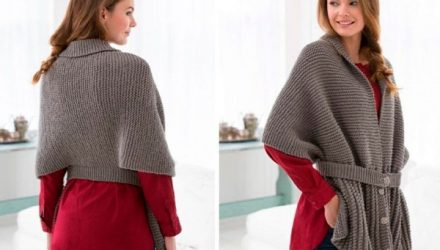 Винтажный шарф-свитер (Вязание спицами)