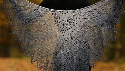 Мохеровые шали — сама нежность и воздушность (Вязание спицами)