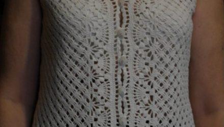 Летняя ажурная кофточка (вязание крючком)
