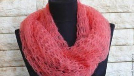 Невероятно простой, воздушный шарф (Вязание спицами)