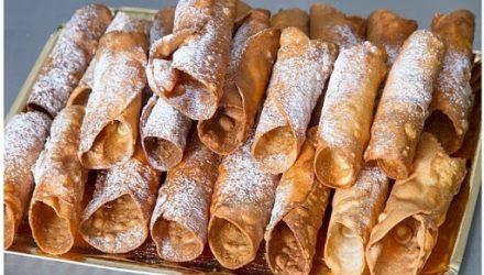 Хрустящие сахарные вафли на сковороде