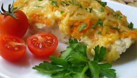 Рыба с сыром по-гречески