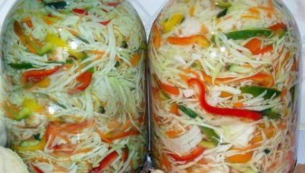 Капустный салат на зиму «Осенний»