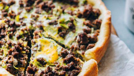 Открытый мясной пирог – просто восторг!