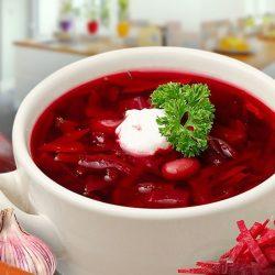 Украинский красный борщ