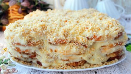 Торт «Ленивый Наполеон» без выпечки