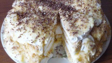 Тортик за 20 минут с зефиром